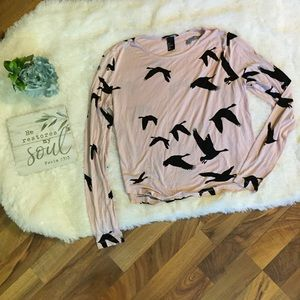 H&M Long Sleeve Bird Tee